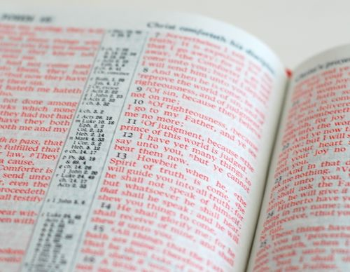 What is the story of the Red Letter Bible?