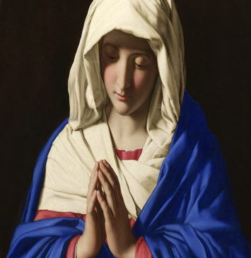 Mary, the Virgin, wearing hijab