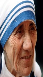 Mother Teresa, wearing hijab