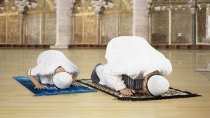 Bowing down and prostration
