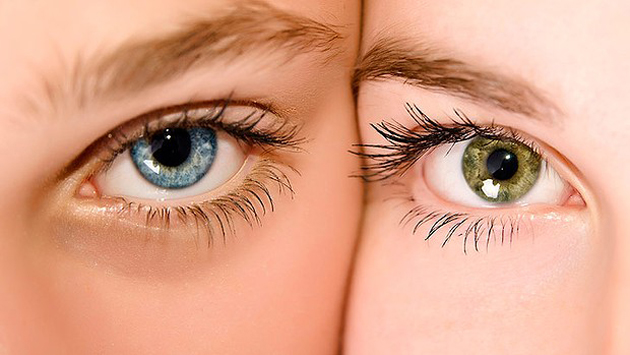 Leering eyes