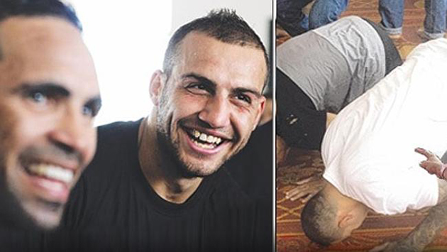 NRL Bad Boy Blake Ferguson prays at Zetland Mosque