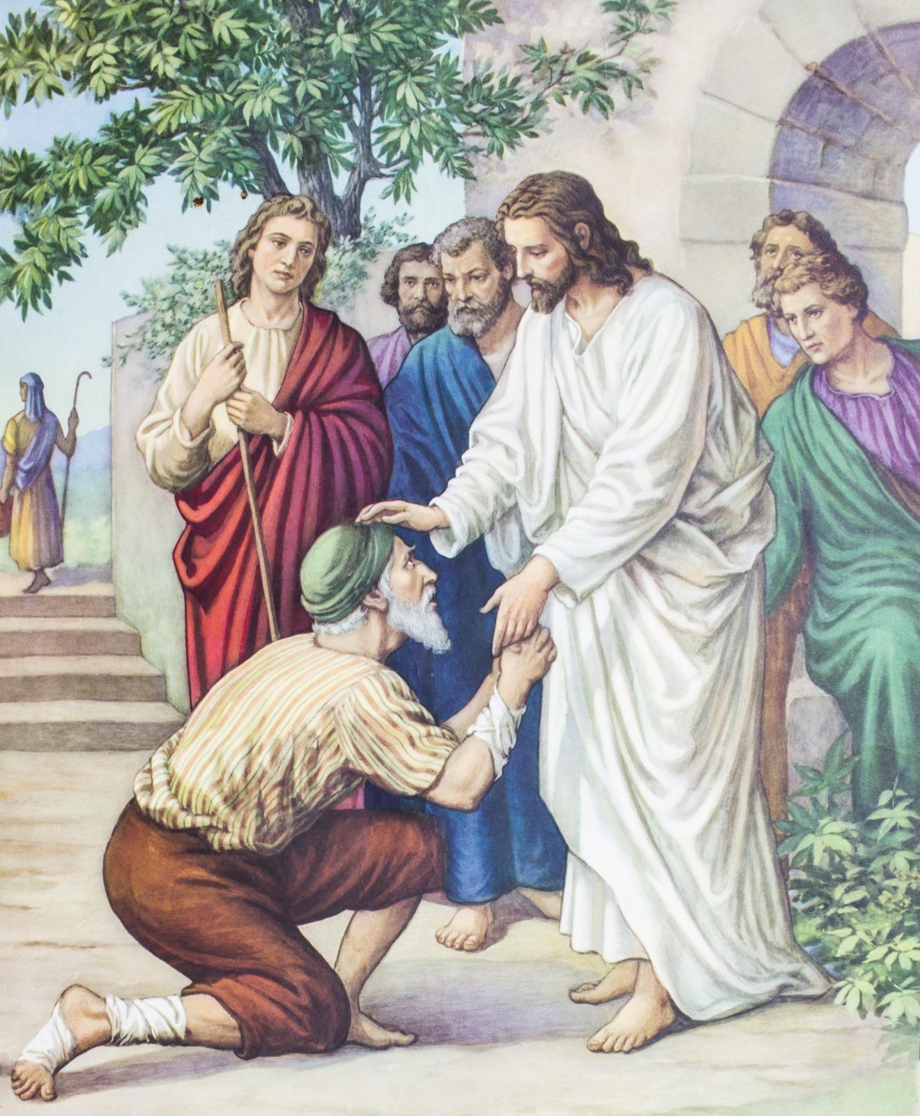 картинки иисус исцеляет слепого